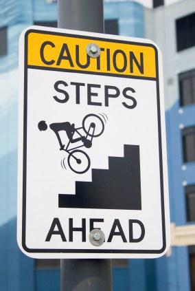 Caution Steps Ahead