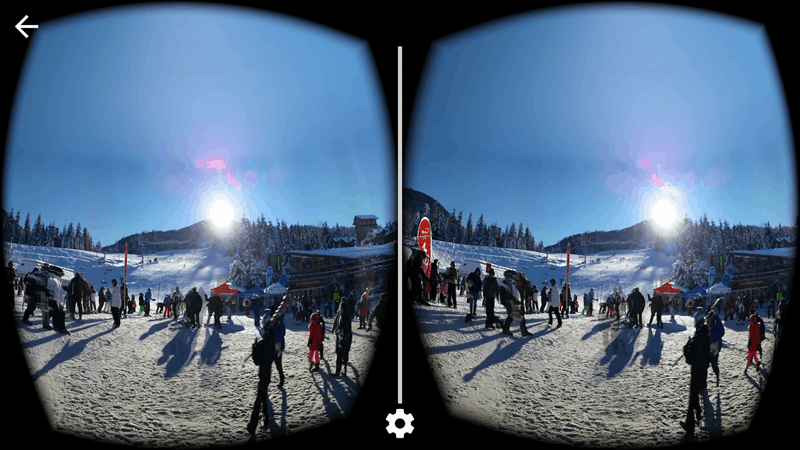 VR: The base of Whistler Mountain.