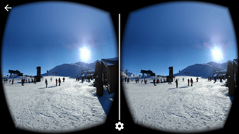 Google Cardboard of Whistler Mountain's Roundhouse Lodge & Peak2Peak